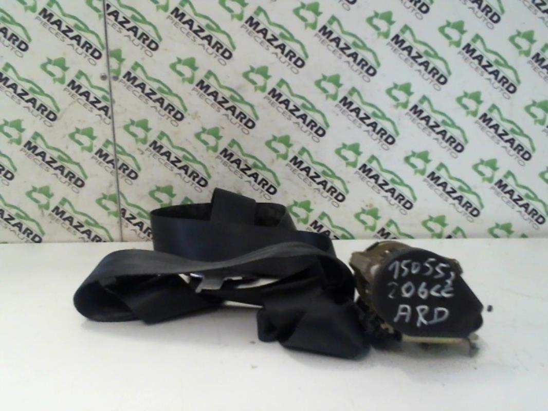 ceinture arriere droit d 39 occasion pour peugeot 206 cc. Black Bedroom Furniture Sets. Home Design Ideas