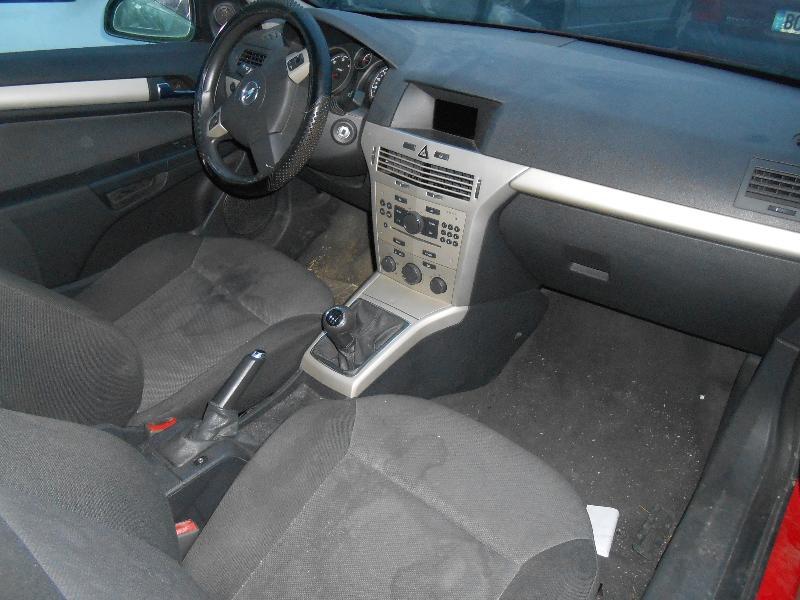 09/manuel Frein /à main Gear Gu/êtres Noir en Cuir Italien Blanc Coutures Pour Opel Vauxhall Astra H 2005