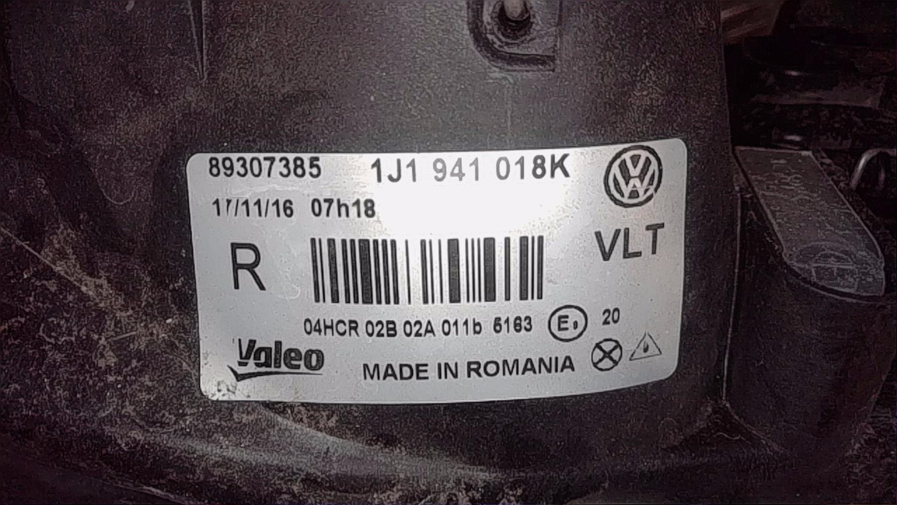Optique avant principal droit (feux)(phare) VOLKSWAGEN GOLF 4 Diesel