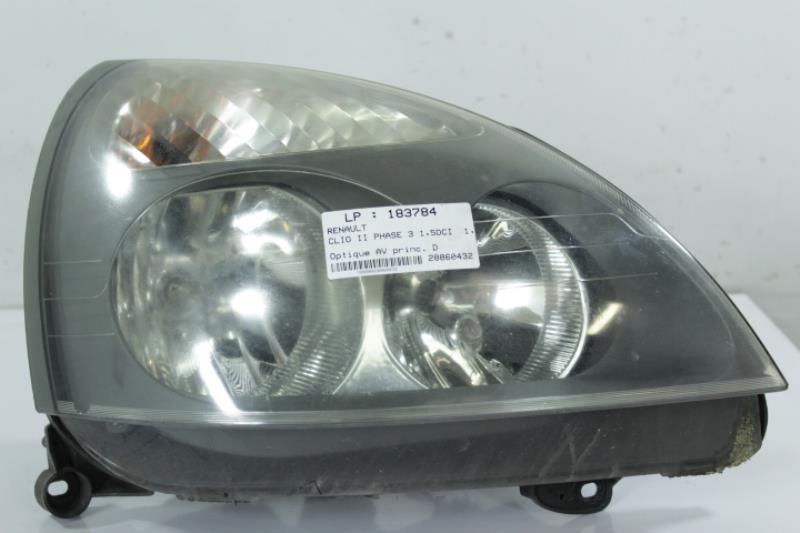 Optique avant principal droit (feux)(phare) RENAULT CLIO II PHASE 3 Diesel