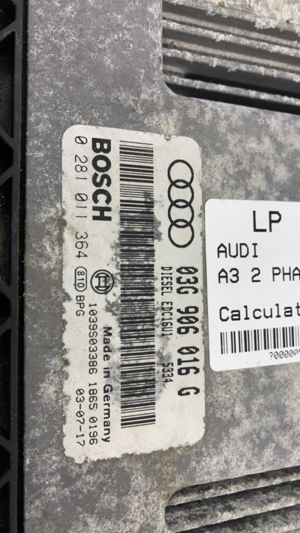 Calculateur AUDI A3 2 PHASE 1 Diesel