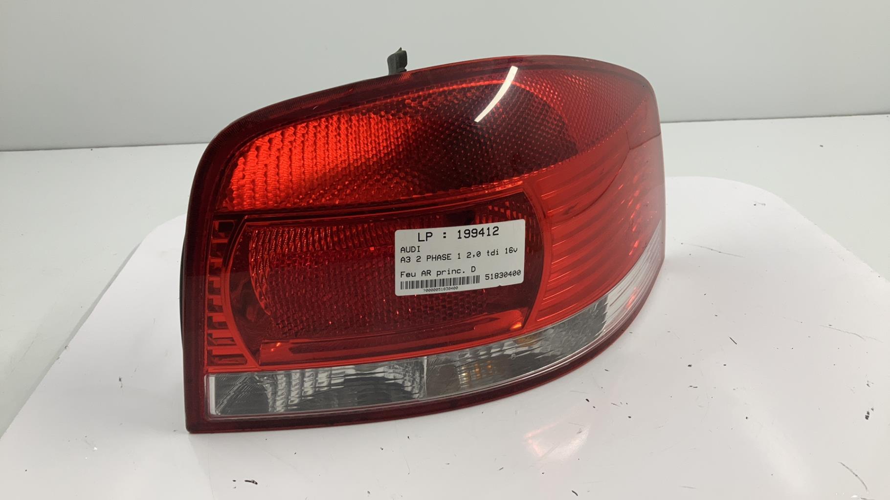Feu arriere principal droit (feux) AUDI A3 2 PHASE 1 Diesel