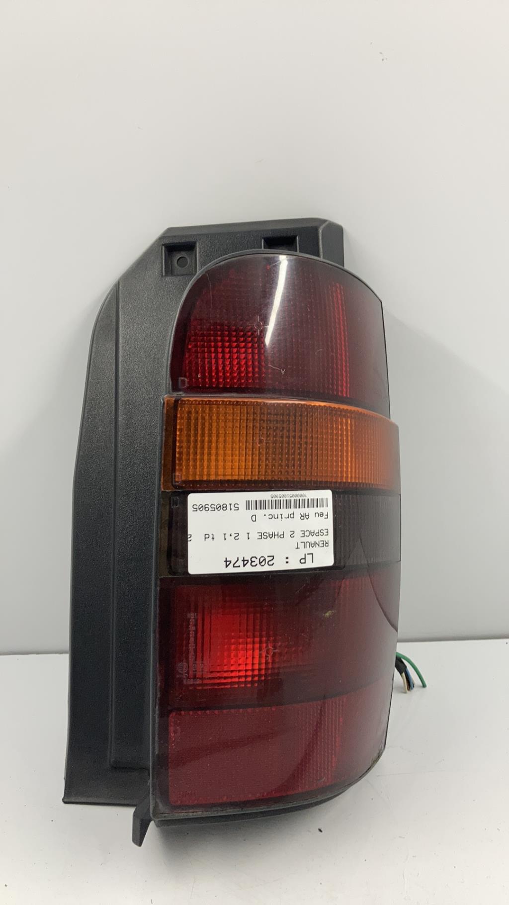 Feu arriere principal droit (feux) RENAULT ESPACE 2 PHASE 1 Diesel