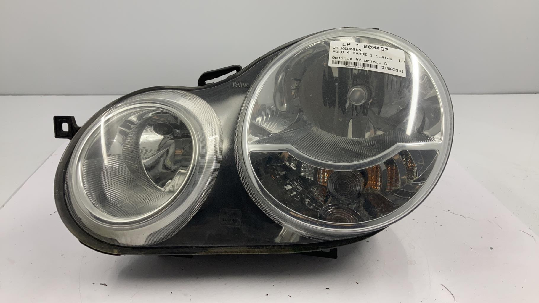 Optique avant principal gauche (feux)(phare) VOLKSWAGEN POLO 4 PHASE 1 Diesel