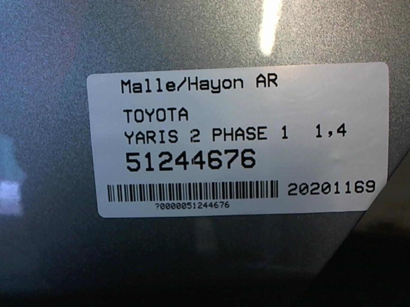 Image Malle/Hayon arriere - TOYOTA YARIS 2
