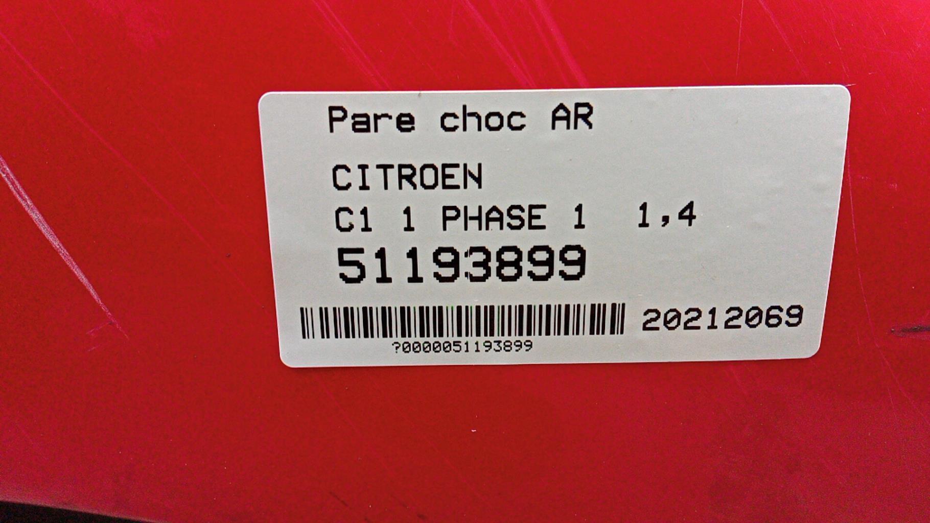 Image Pare choc arriere - CITROEN C1 1